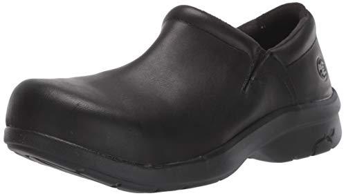 Timberland PRO Women's Newbury ESD Slip-On,Black,7 M US