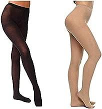 Varshine Premium Quality Waist Length Stocking    Panty Hose    Super Stretchable    Colour- Beige and Black    2 Pair