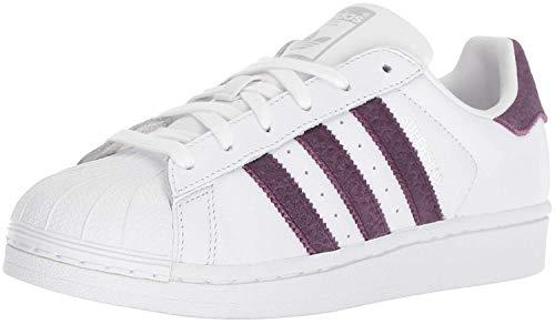 adidas Originals Damen Superstar Turnschuh, Weiß/Rot Nacht/Silber Metallic, 38 EU