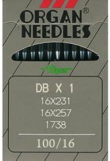 Organ DB X 1 Industrial Needles 16X257 Size 100/16 (10pk)