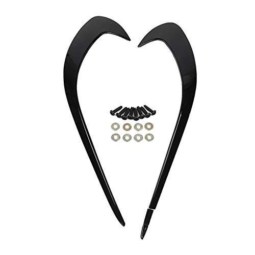 MITANG Alerón divisor de cuchillo de aire lateral para parachoques delantero para Mercedes Benz Clase A W176 A180 A200 A220 A250 AMG A45 2016-2018 (color negro)