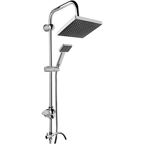 SJIUH Shower faucet set Chrome Shower Stall Faucet Set Rainfall Rain Mixer Towel Swivel Spout Bath Head Cabin Bathroom Robot Sprinkler Mixer Tap 2 Types,Black,TURKEY