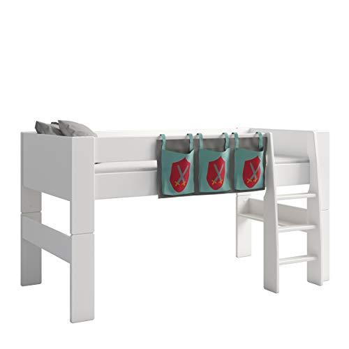Steens For Kids Utensilo,Taschenset für Kinderbett, Hochbett, 93 x 38 x 1 cm (B/H/T), Baumwolle, grau ,blau