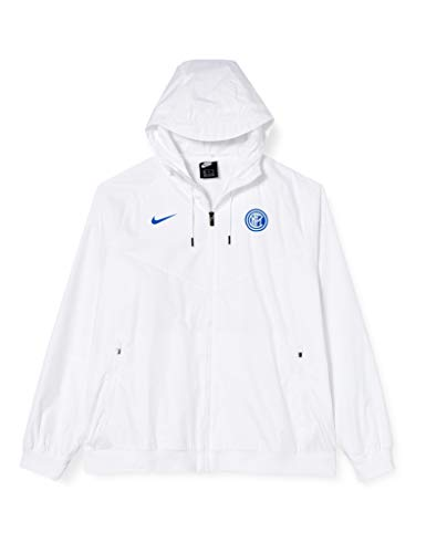 Nike INTER M NSW WR WVN AUT, Giacca Sportiva Uomo, white/White/White/(blue spark) (no spon-player), 2XL