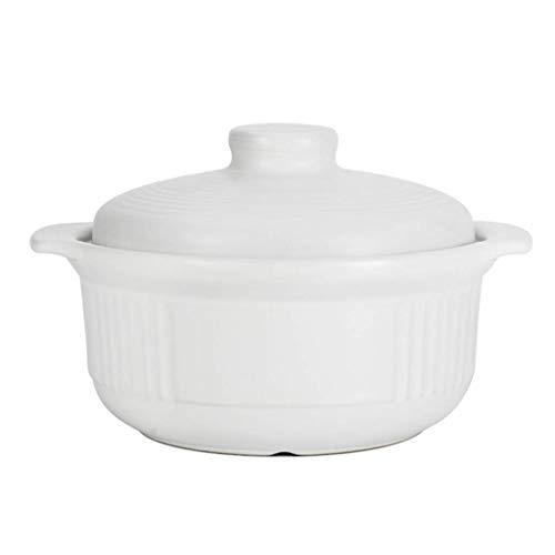 Olla de cerámica Antiadherente Olla de Barro Redonda con Tapa Olla de Barro Japonesa Olla de Sopa Resistente al Calor para cocinar guisos Negro 2l