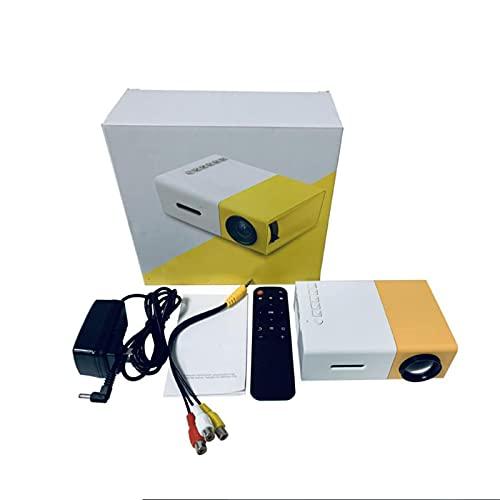 BBZ YG300 Mini proyector para el hogar, proyector portátil 1080p, imagen de reflexión difusa, altavoces integrados, soporte de fuente de alimentación móvil, para exteriores, camping