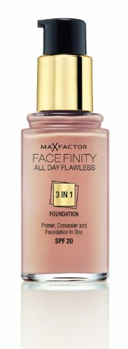 3 x Max Factor Face Finity Flawless 3 in 1 Foundation 30ml - 95 Tawny