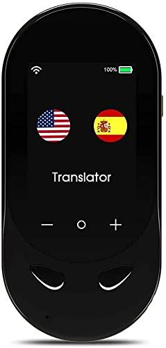 Traduttore Vocale Istantaneo Portatile, Elettronico Traduttore Simultaneo Multilingue Supporta 106 Lingue Lavoro e Studio Transfrontalieri, Shopping D'oltremare