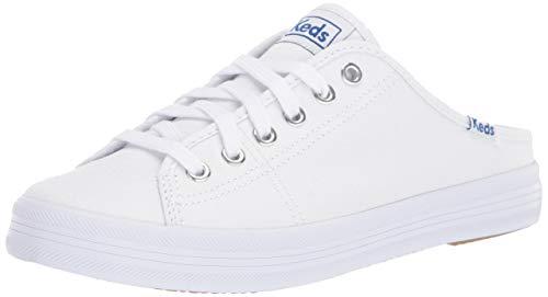 Keds Women's Kickstart Mule CORE Canvas Sneaker, White, 8 M US