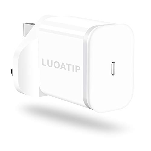 LUOATIP 20W USB C Fast Charger Replacement for iPhone 12/12 Mini/12 Pro/12 Pro Max, PD 3.0 Mains USBC Wall Plug Power Delivery 20Watt Lead Adapter for Phone 11 Pro Max SE 2020, iPad Pro, AirPods Pro