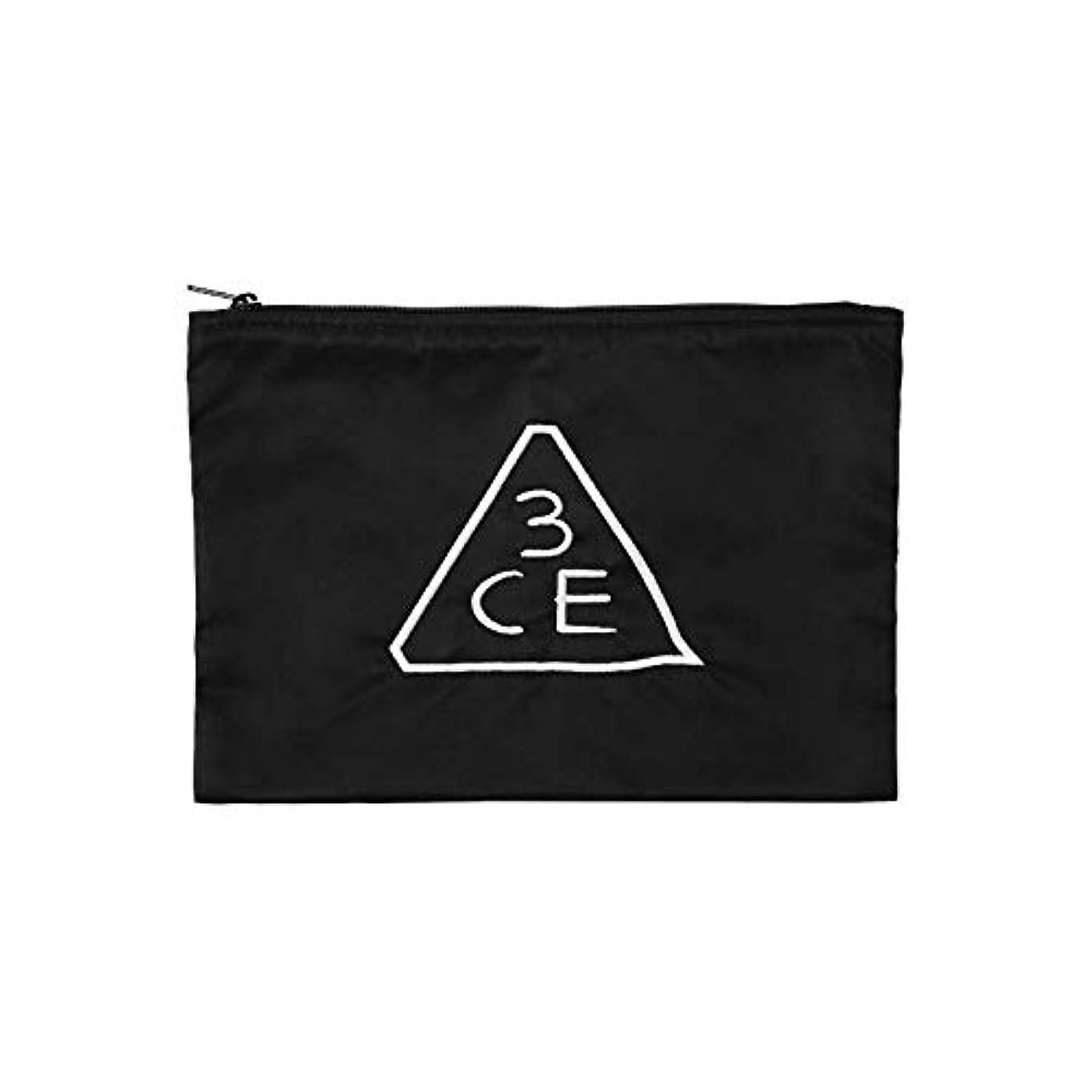 傾いた危険節約3CE フラットポーチ FLAT POUCH MEDIUM #BLACK [並行輸入品]