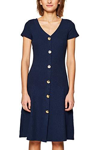 edc by ESPRIT Damen 049CC1E006 Kleid, Blau (Navy 400), Medium (Herstellergröße: M)