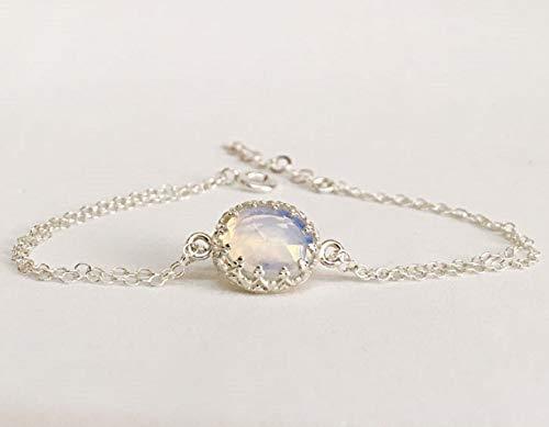 Hochzeit Armband Damen Mondstein Armkette Geschenk für Braut