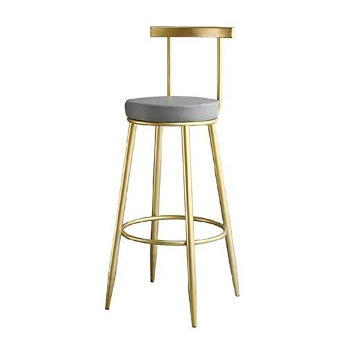 KHDJ Taburetes y sillas traseras Modernas, Taburete de Bar del Taburete del Paso de la Comida del Pub del mostrador,Gris,65cm