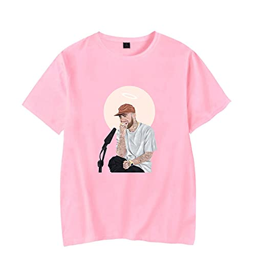 CAFINI Camiseta Mac Miller Unisex Street Hip Hop Singer Print Harajuku Manga Corta Estudiante Adolescente Pareja Fan Media Manga Sudadera(S-3XL)