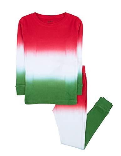 Leveret Kids & Toddler Boys Pajamas Christmas 2 Piece Pjs Set 100% Cotton (Size 4 Toddler Tie-Dye)