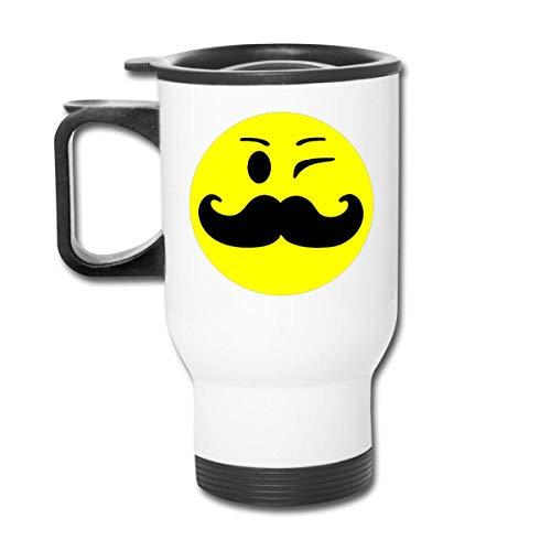 Vaso republicano de cara de bigote - Vaso con doble aislamiento - Taza de café de 30 onzas para automóvil, viajes, trabajo