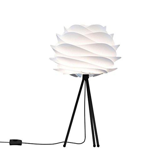 Carmina – Tischleuchte, weiß / Stativ schwarz Ø 32 cm – Design Vita von William Ravn