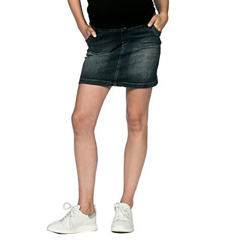 Love2Wait Umstandsrock Sarah Jeans Damen Umstandsmode Dark wash B999004-29