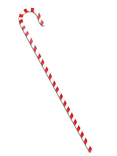 Forum Novelties Candy Cane Walking Stick Adult Costume Accessory Red/White