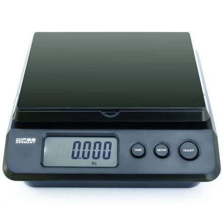 Dipse Parcel 25/20/10 kg – Balance Paquet numérique Pèse-lettre avec bloc d'alimentation ou des piles et 2 G/1 G/0,5 g division
