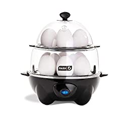 commercial DASH Deluxe Electric pressure cooker, hard-boiled jam, poached, omelet, boiled meat … electric egg poacher