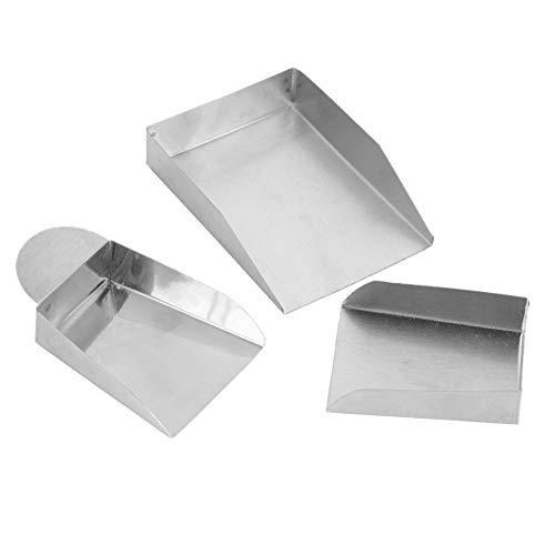 3 piezas de pala de joyería de tamaño pequeño, pala de piedras preciosas de peso ligero, para cuentas de diamantes, perlas, herramientas de pala de gemas con/sin mango