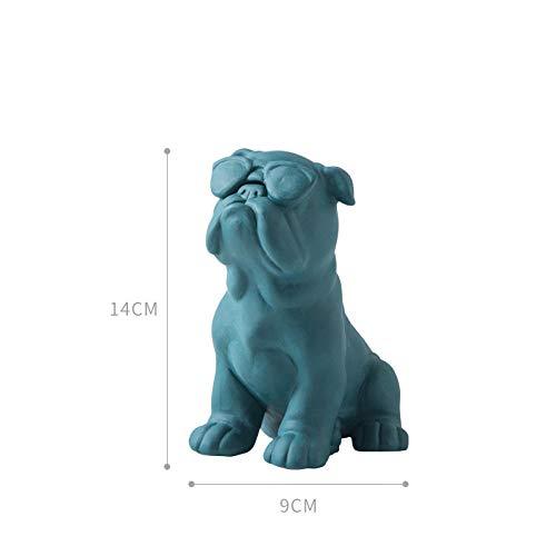 YUQZYT Estatua Cerámicaescultura Estatuaestatua Perro Abstracción Animal Cerámica Artesanía -1_como Se Muestra