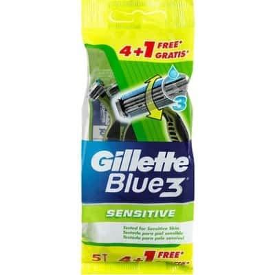 Gillette Blue 3 - Sensitive - 2 x 5 wegwerp scheermessen Voordeelverpakking!
