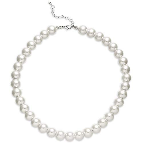 ArtiDeco Collar de Perlas de Imitación Redondo Choker de Perlas de Imitación 1920 Flapper Gatsby Accesorio de Moda
