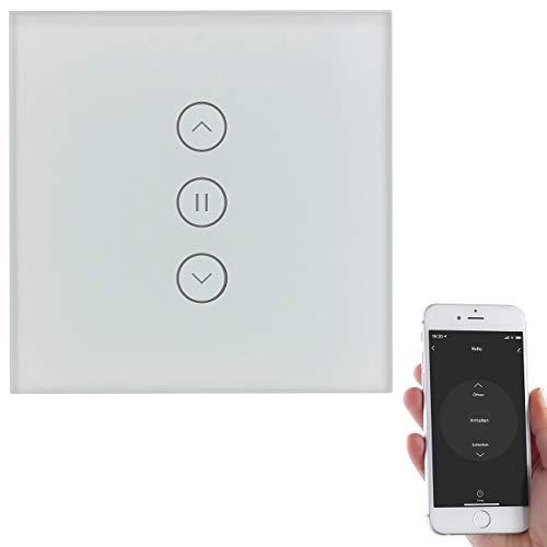 Luminea Home Control Rolladensteuerung: Rollladen-Touch-Unterputz-Steuerung mit WLAN, App und Sprachsteuerung (Rollladensteuerung Unterputz WLAN)