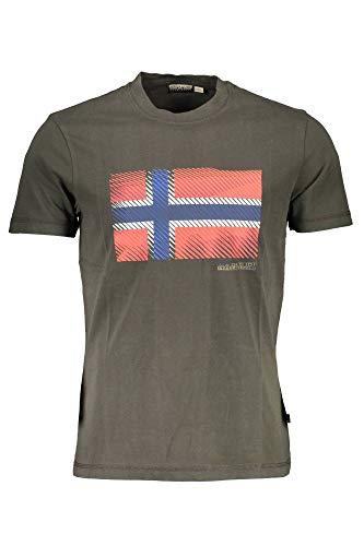 NAPAPIJRI SIBU T-Shirt, Verde (Green Forest 2 Ge3), L Uomo