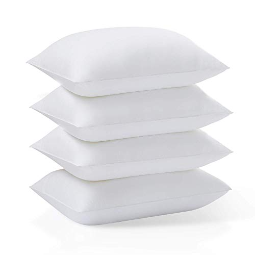 Acanva 4 Pack Hypoallergenic Soft Sleeping Bed Pillow, Standard-4Pack, White