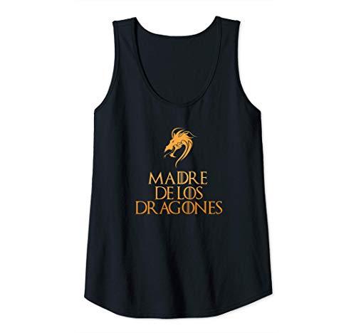 Mujer Madre de Dragones Original Regalo del Día de la Madre Mama Camiseta sin Mangas