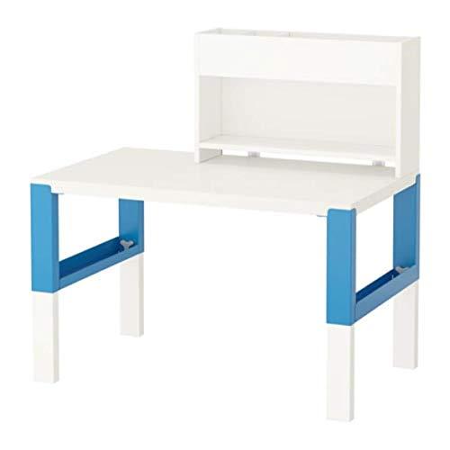 Ikea Pahl skrivbord med tilläggsenhet vit blå 391,289,55 storlek 99,55 cm x 76,9 cm