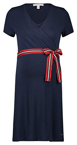 ESPRIT Maternity Damen Dress Nursing Ss Kleid, Blau (Night Blue 486), 36 (Herstellergröße: S)