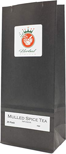 Mulled Spice Black Tea Herbal Infusion (25 Tea Bags, Unbleached)