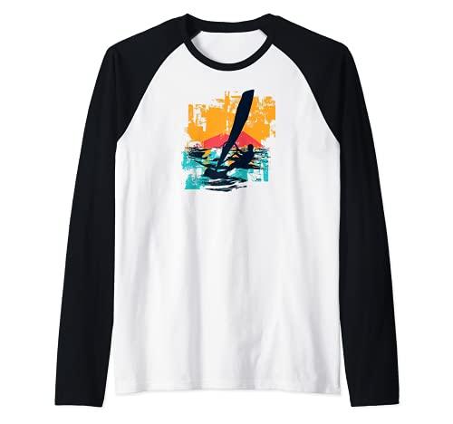 Windsurfistas Velas de Windsurf Tablas de surfistas Windsurf Camiseta Manga Raglan
