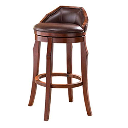 JQQJ bartafel met barkruk draaistoel massief hout barkruk stoel microvezel leer barkruk kruk hoge stoel