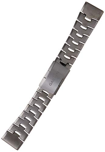 Garmin QuickFit 26 Watch Bands - Vented Titanium Bracelet with Carbon Grey Dlc Coating