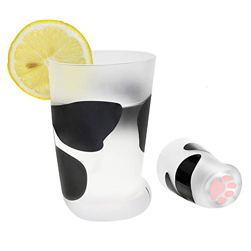Novelty Cat Claw Cup Cat Paw Frosted Cup Kids Milk Glass Cups Personality Breakfast Milk Cup Cute Cat Foot Claw Print Mug Men and Women Couples Household Cups
