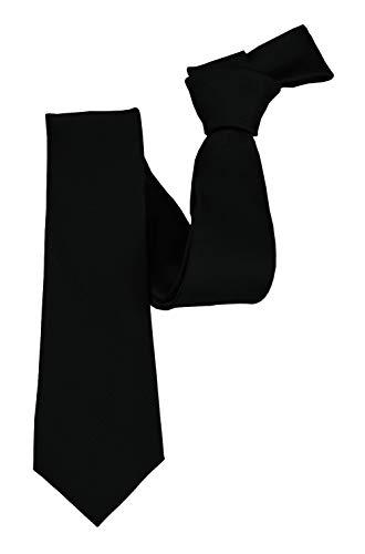 ADAMANT® Designer Seidenkrawatte Schwarz 6cm Schmal