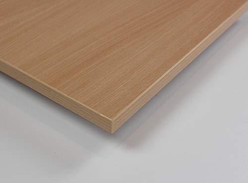 MySpiegel.de Tischplatte Holz Zuschnitt nach Maß Beschichtete Holzdekorplatte (120 x 70 cm, Samerbergbuche)
