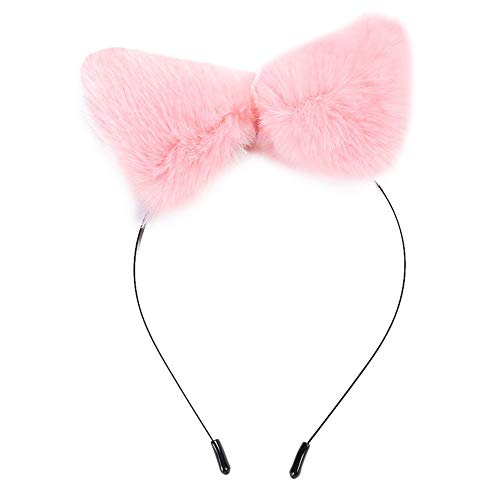 TXX Oído de gato encantador regalo dulce banda diadema mujeres niña accesorios para el cabello (rosa)