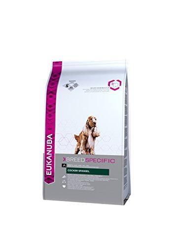 Eukanuba, Alimento completo per Cani di Razza Cocker Spaniel, Crocchette con Pollo, 7,5 Kg