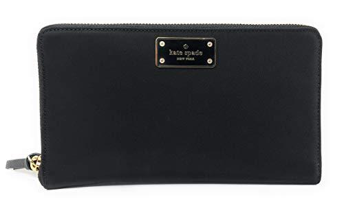 Kate Spade New York Kaden Extra Large Passport Holder Travel Wallet Clutch Black