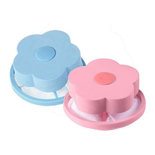 Momoxi Mesh-Filterung Haarentfernung Floating Filterbeutel Washer Style Laundry Clean Kaufen Sie eine, erhalten Sie eine kostenlos (Rosa+Blau)