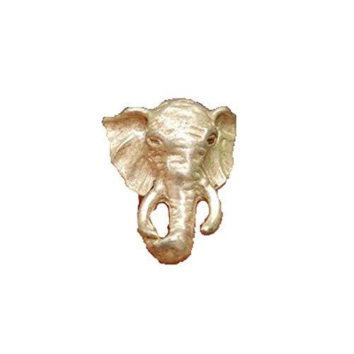 Antieke Antieke Diverse Collectie Miao Zilver Tibetaanse Zilver Brons Olifant Ring Oude Object