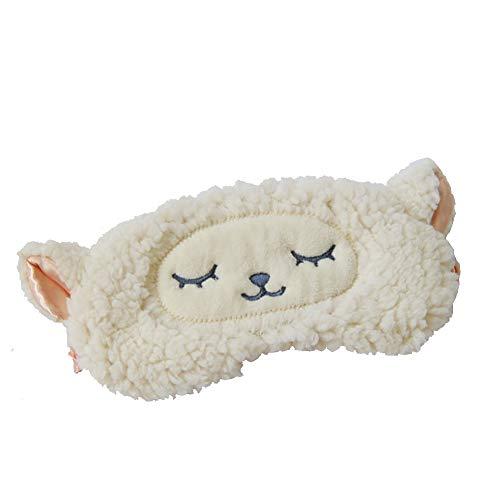Shinywear Girls Eyeshade Sleeping Masks Lamb Wool Sheep Cute Plush Eye Cover Patch for Travel Camping Blinders