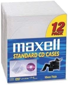 lowest Maxell lowest CD/DVD Jewel Cases CD-360 - Jewel Case - Book Fold - Plastic - Clear - 2021 12 CD/DVD - 190069 outlet sale